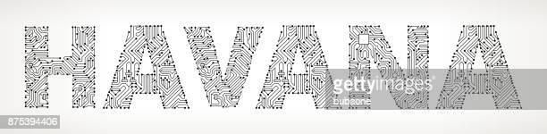La Habana circuito Vector botones