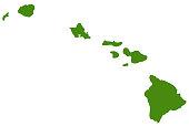 vector illustration of Hawaii islands map