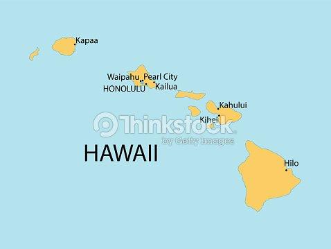 Hawaii Map Vector Art Thinkstock