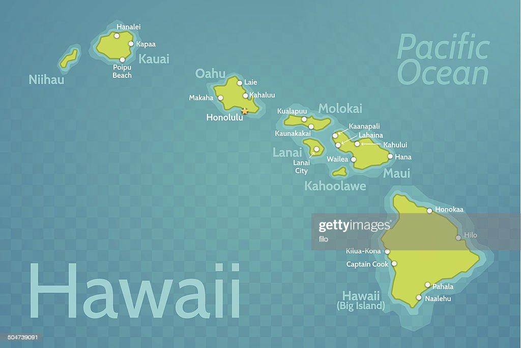 Hawaii Map Vector Art Getty Images - Hawaii map