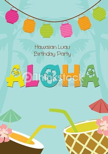 Hawaiian luau birthday invitation vector art thinkstock hawaiian luau birthday invitation vector art stopboris Gallery
