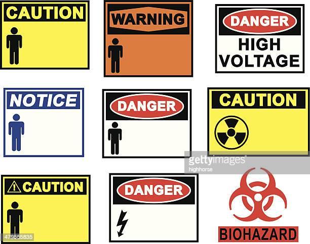 Señales de peligro y advertencia