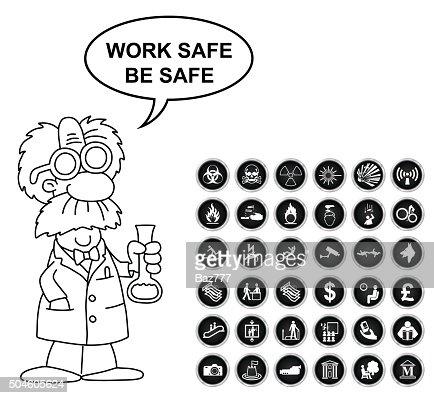 Gefahr Sicherheit Und Buro Icon Kollektion Vektorgrafik Thinkstock