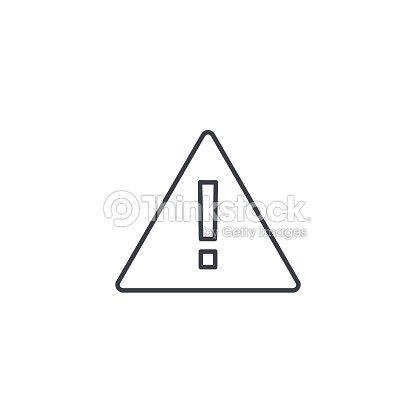 Hazard, warning, attention thin line icon. Linear vector symbol : stock vector