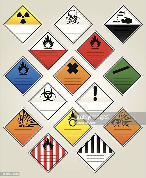 Los diamantes de advertencia HazChem