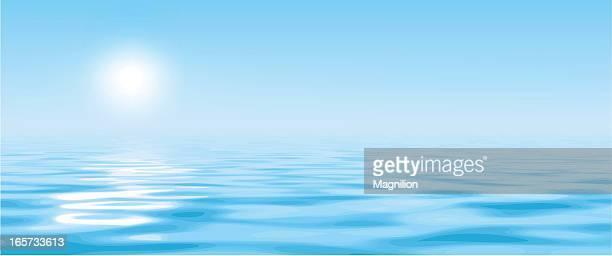 Soleil au-dessus de l'eau