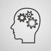 head gear brain background - concept