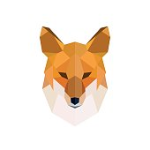 Head of a red fox. Modern polygonal style. Vector illustration.
