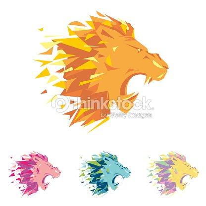 ライオンの頭部は同社のビジネススポーツ クラブブランドの服や機器の