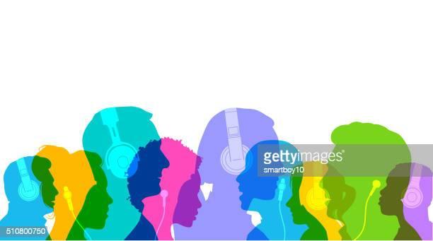 Head Profiles with Headphones