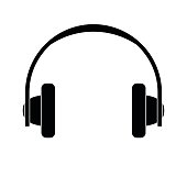 Headphones icon on white background vector