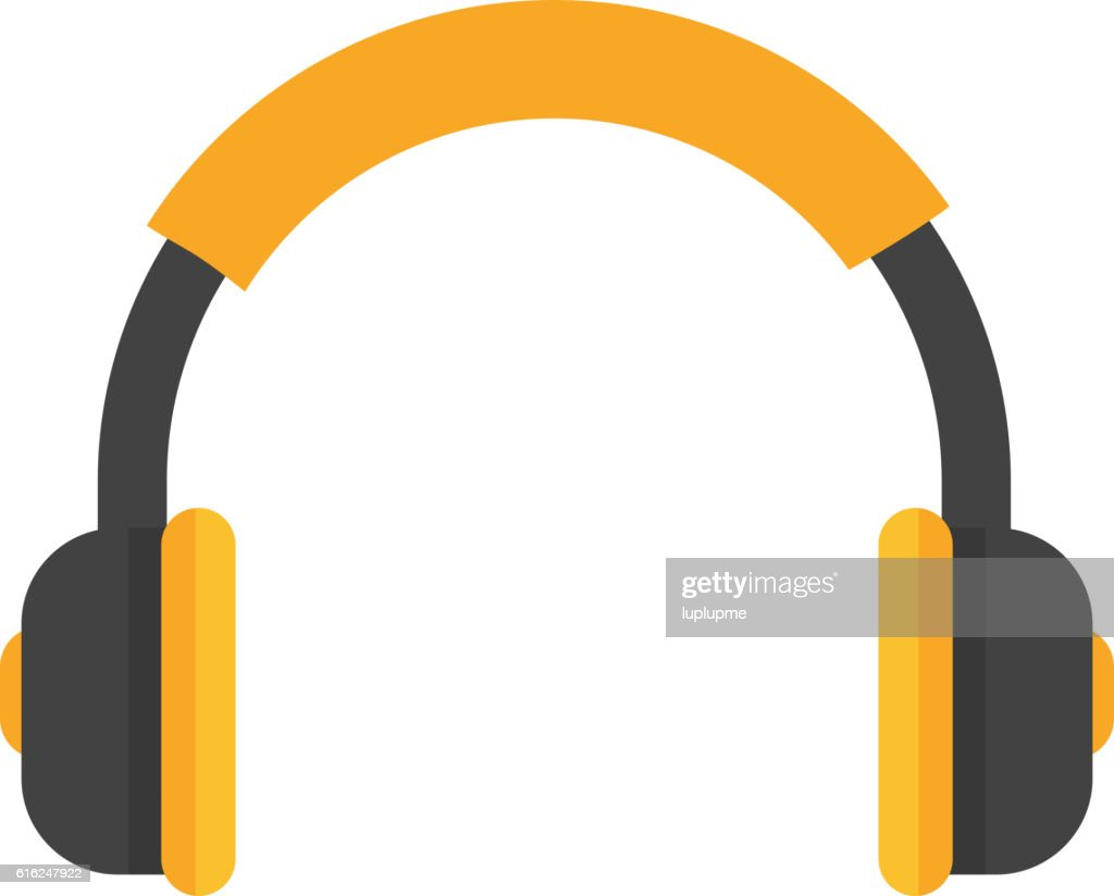 Headphones vector icon isolated : Vector Art