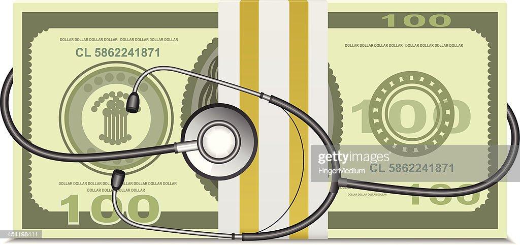 Os custos dos cuidados de saúde : Arte vetorial