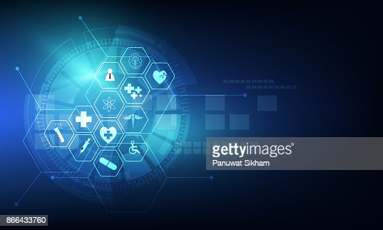 health care icon pattern medical innovation concept background design : Vector Art
