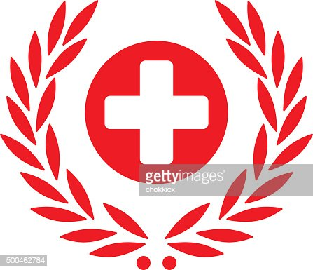 health care symbol with laurel vector art getty images