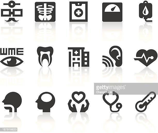 Health Check Icons | Simple Black Series
