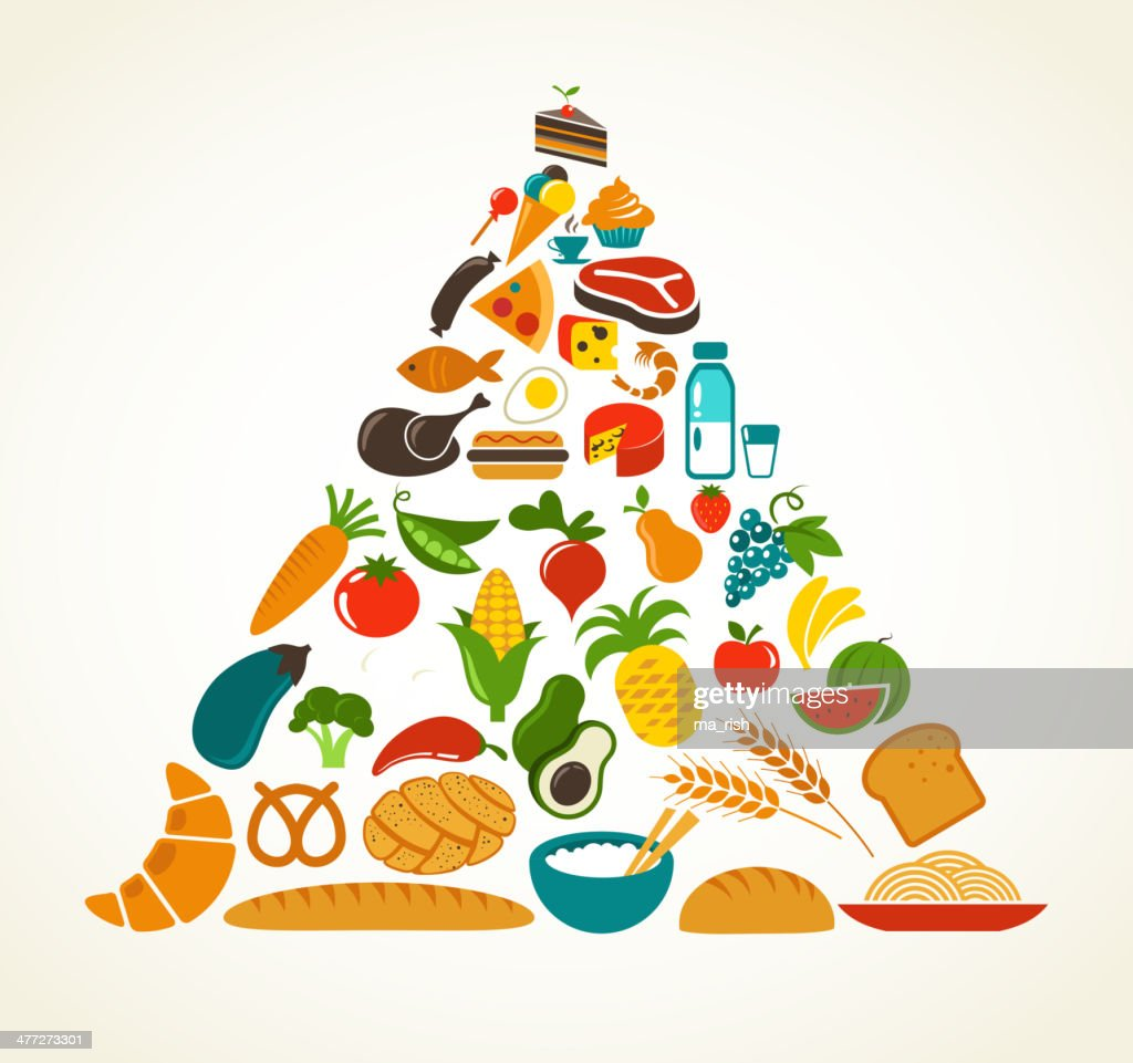 health food pyramid vector art thinkstock rh thinkstockphotos com food pyramid clipart free food pyramid clipart