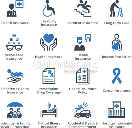 Krankenversicherungiconsblueserie Vektorgrafik | Thinkstock