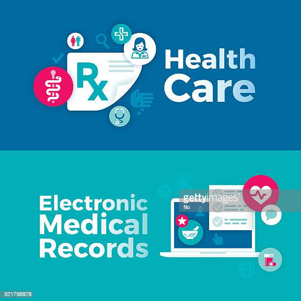 Healthcare and Medical Records Banners