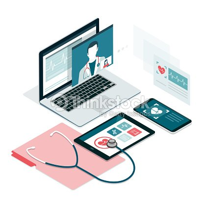 Soins de santé et de la technologie : clipart vectoriel