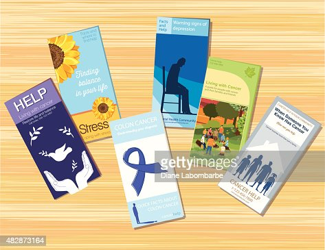 Stress Healthcare Brochure Or Pamphlet Template Vector Art | Getty