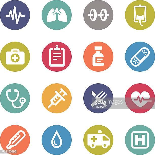Gesundheitswesen Symbole-Kreis Serie