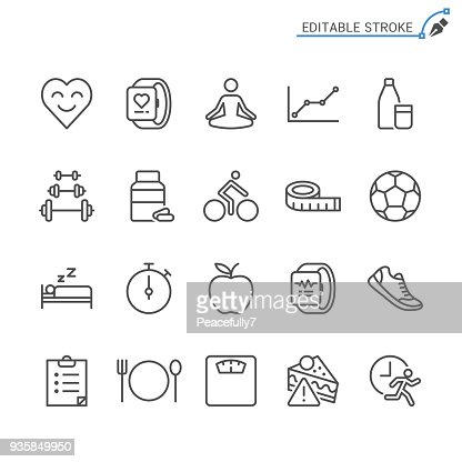 Healthcare line icons. Editable stroke. Pixel perfect. : Vector Art