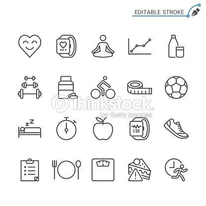 Healthcare line icons. Editable stroke. Pixel perfect. : stock vector