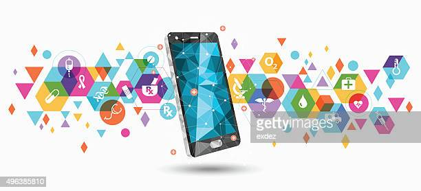 Healthcare service apps on smartphone