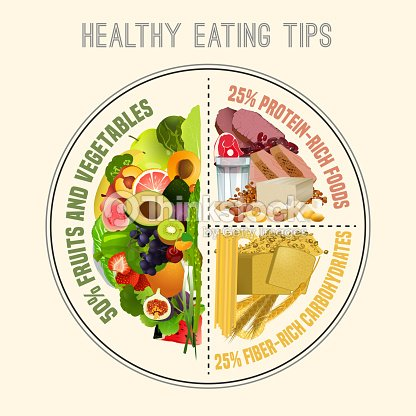 Healthy Eating Plate : stock vector