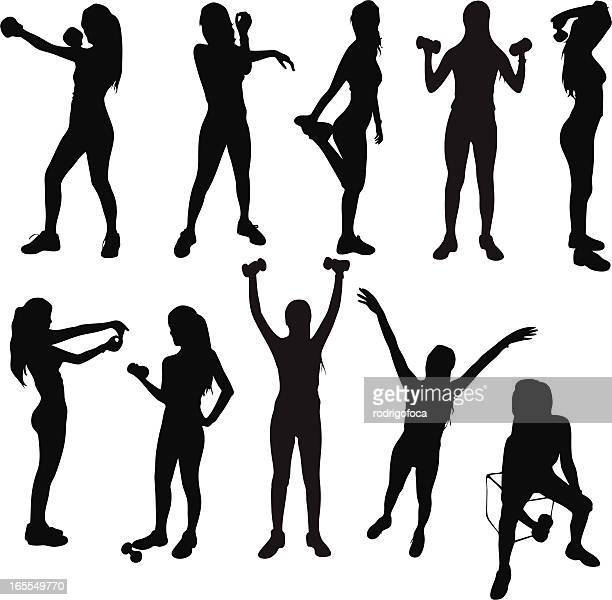 Healthy Exercise Silhouettes