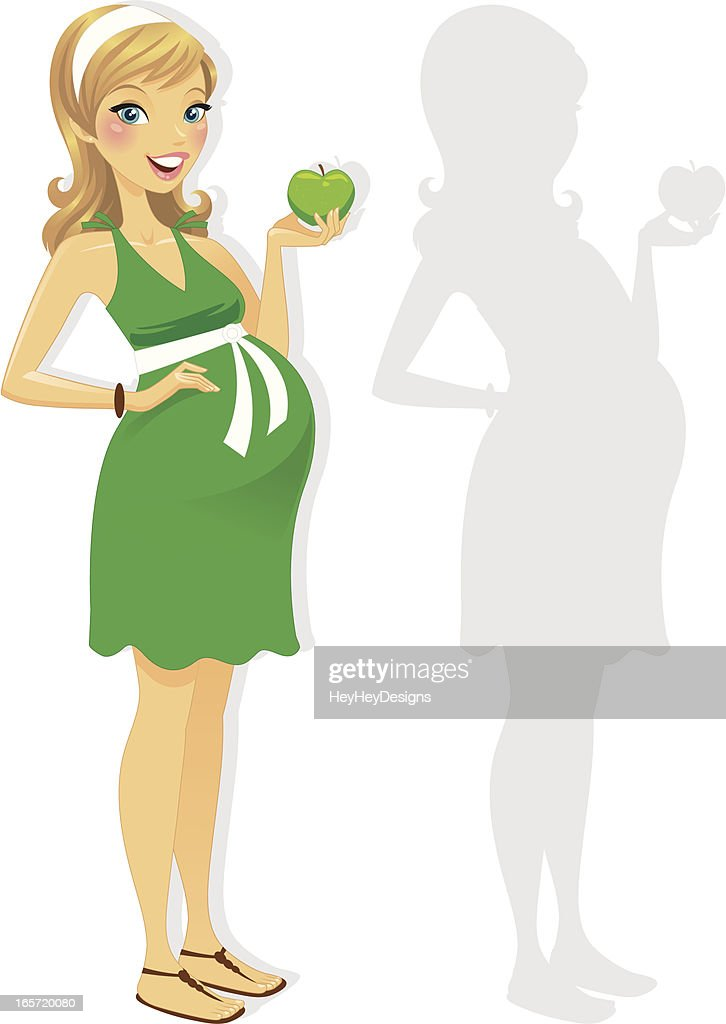 Healthy Pregnant Woman : Vector Art