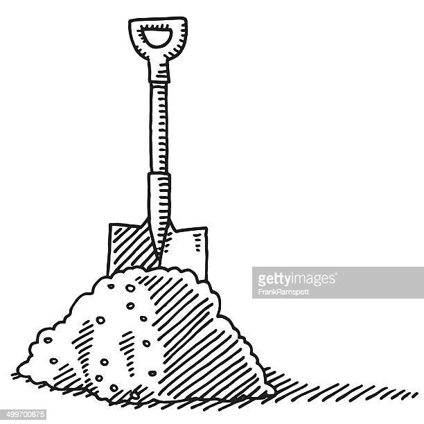 Heap Of Soil Spade Drawing