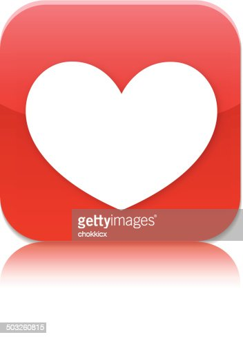heart app icon vector art getty images