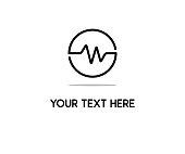 heart beat line icon design illustration
