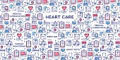 Heart care conceptual illustration, perfect for use in website design, presentations, infographics etc.