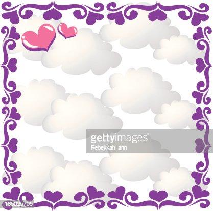 heart cloud frame