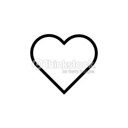 Estilo plano corazón icono Vector, de San Valentín amor símbolo aislado en ilustración de fondo blanco : arte vectorial