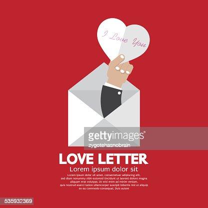 Heart In Hand Love Letter Concept : Vector Art