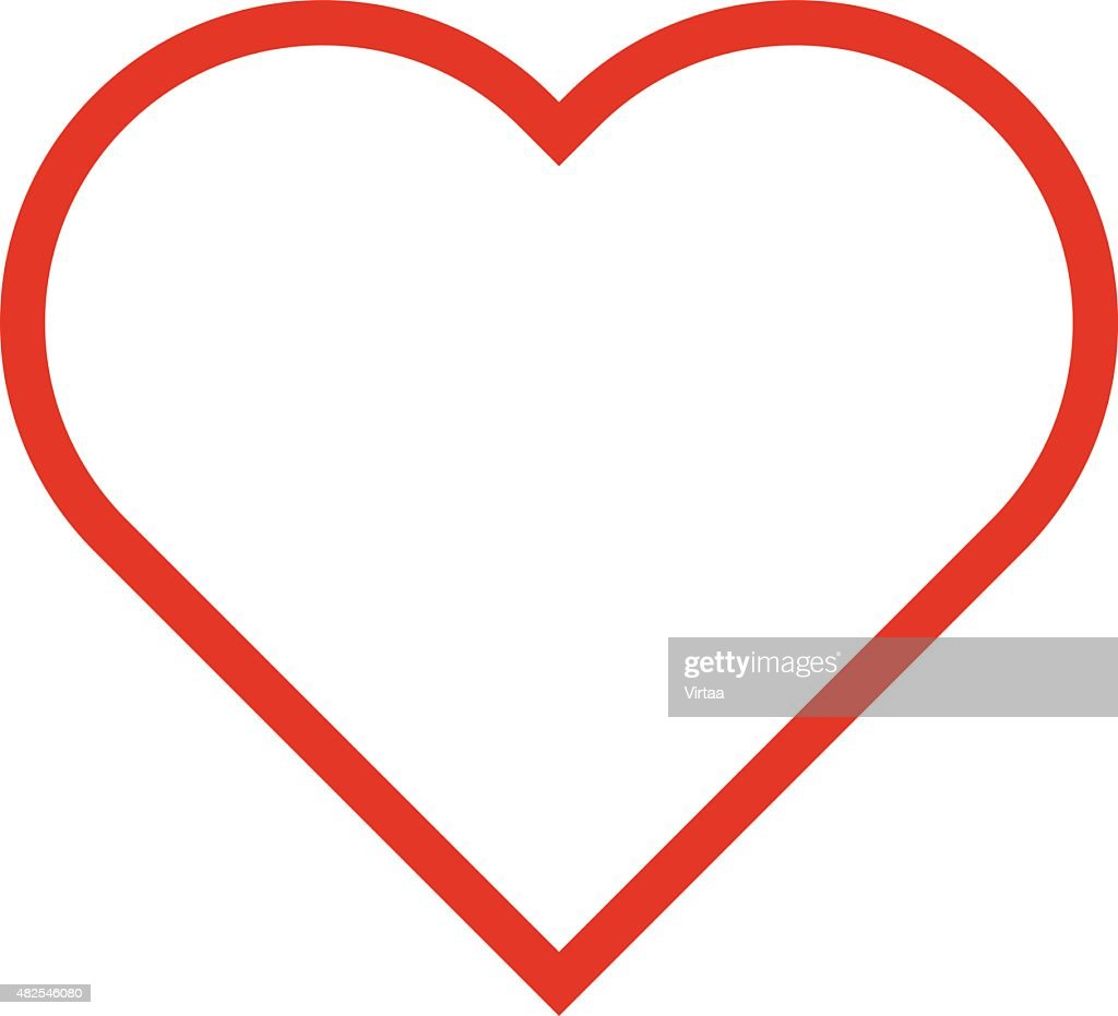 heart outline icon modern minimal flat design style love symbol rh thinkstockphotos com free vector heart outline download love heart vector outline