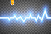 Heart pulse graphic isolated on transparent background. Concept of medicine.Vector illustration. eps 10