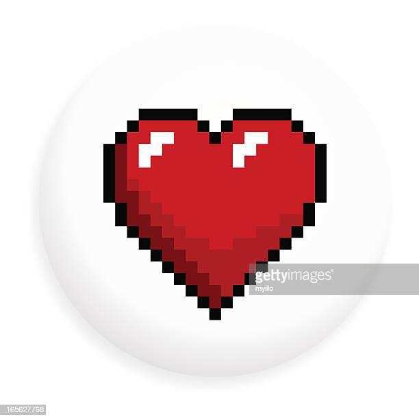Heart shape badge
