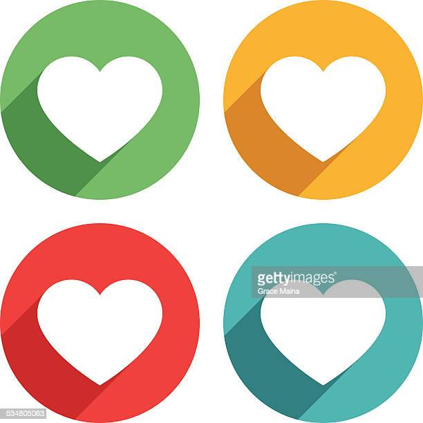 Heart shape icons - VECTOR