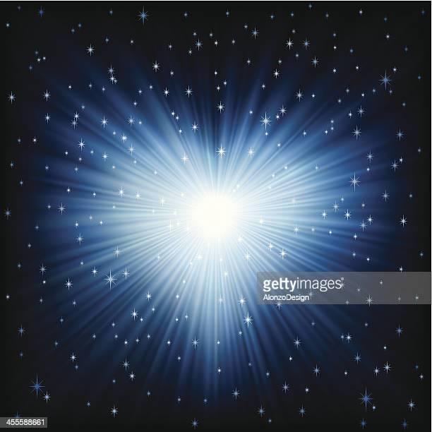 Heart Shape in Bright Blue Light