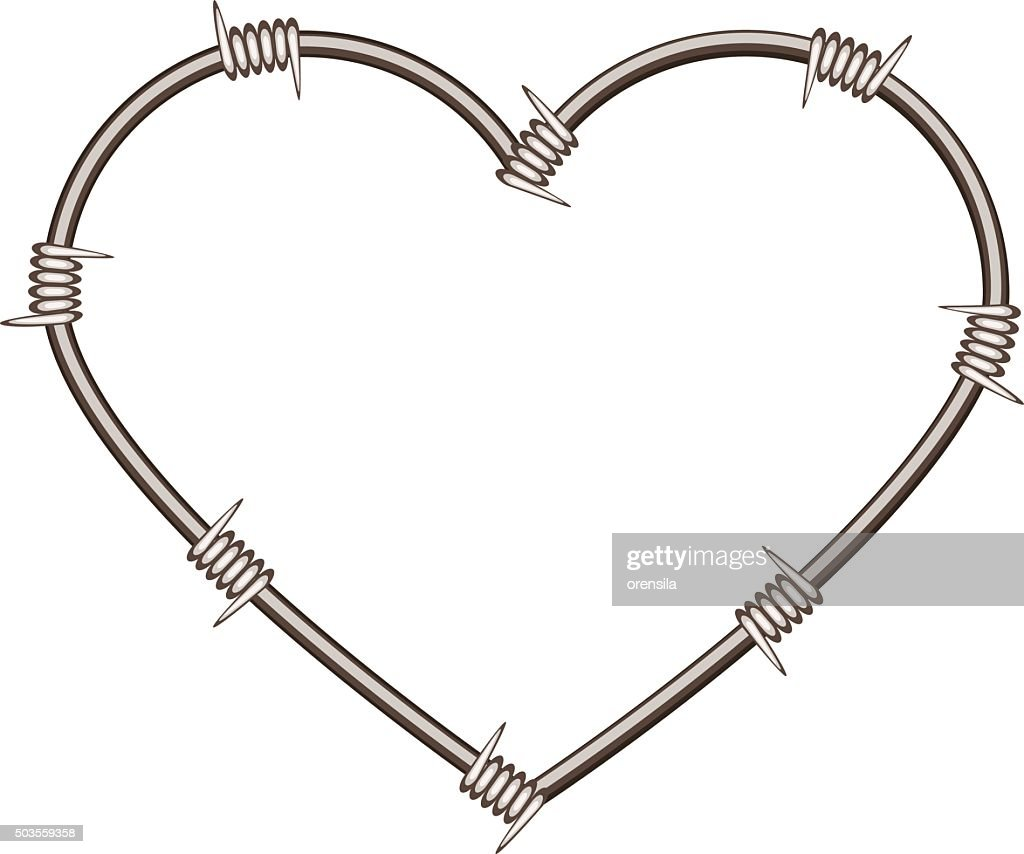 heart shaped barbed wire art wire center u2022 rh 144 202 20 230