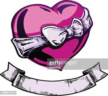Corazón tatuaje. : Arte vectorial
