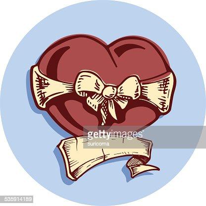Heart tattoo : Vector Art