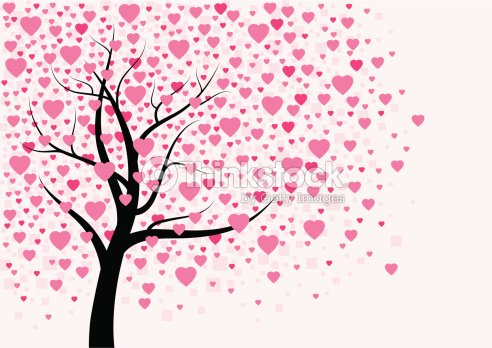 heart tree design vector art