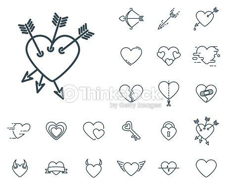 b5a09e8271b07 Corazón Con El Icono De Tres Flechas En Conjunto Sobre El Fondo ...