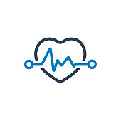 Heartbeat icon. Cardiology symbol